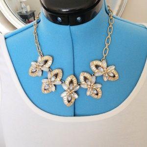J. Crew Crystal Gemstone Statement Necklace